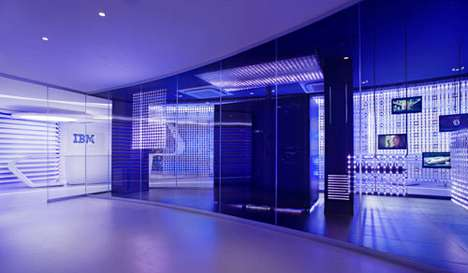 Futuristic Tech Interiors - The IBM Executive Briefing Center Looks Like a High-Tech Spaceship