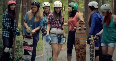 Girly Mountain Missions - The Juan Rayos Longboard Girls Crew Rides Through Madrid's Mountains