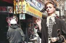 Disheveled Town Photoshoots - The Sasha Pivovarova Vogue Paris Editorial is Grungy-Chic