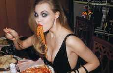 Spaghetti-Slurping Shoots - Lindsey Wixson is a Fashion Foodie in Vogue Nippon June 2011