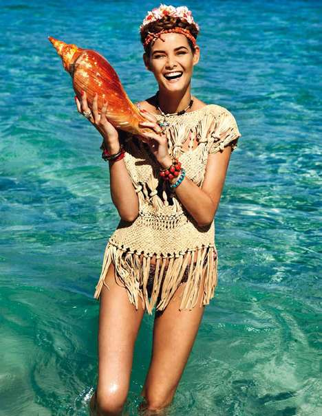 Mariachi-Inspired Editorials - The Elle Italia June 2011 Issue Highlights the Signs of Summer