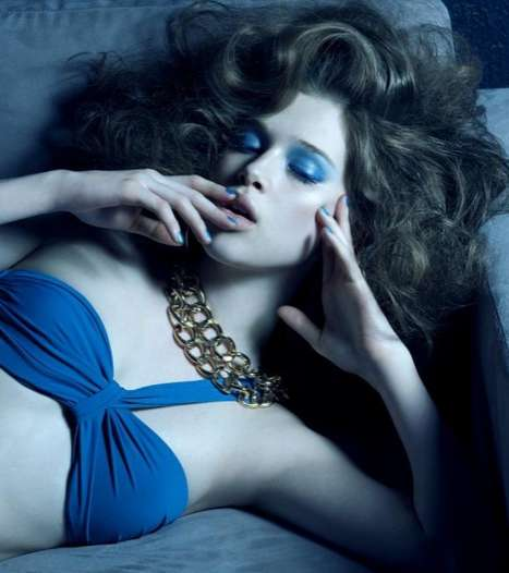 Elle Quebec June 2011 'L' Ange Blue' inspired photo shoot