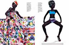 Tribal Disco Editorials - Tina J Sparks a Heat Wave in Elle Singapore June 2011