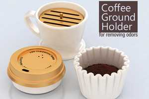 The Coffee Ground Holder Plays on your Brew's Ability to Expel Odors