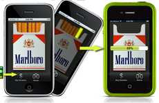 Smartphone Cigarette Sharing - Marlboro Bump a Smoke Suggests a New Way to Bum a Butt