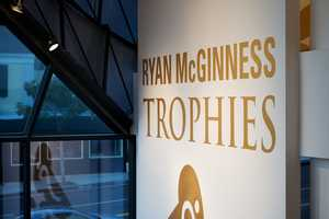 The 'Trophies' Exhibit by Ryan McGinness Shines Its Way to Perfection