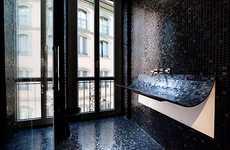 Peeled-Back Sinks