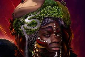This Eugene Sheeleen 'African God' Illustration Fuses Elements
