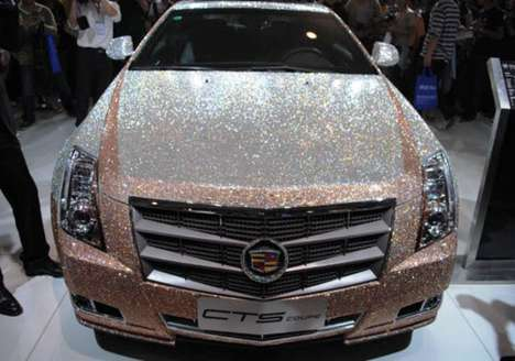Swarovski covered Cadillac CTS Coupe