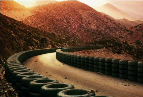 Wheel-Lined Motorways - These Bridgestone Tyres Ads Offer Drivers a Safe Voyage