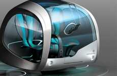 Automotive Capsule Abodes - Quno by Jeongche Yoon Merges Roadster and Residence
