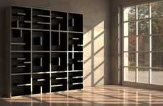 Alphanumeric Storage Systems - The Saporiti ABC Libreria is as Literal as the Books it Embraces