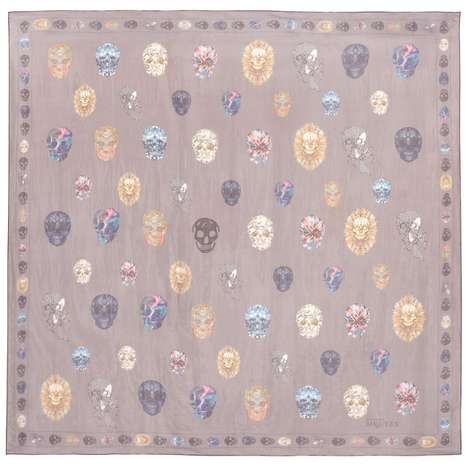 Soft Skull-Printed Stoles - The