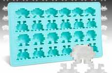 Geeky Gamer Coolers - Stay Chilled During Heat Waves with the Space Invaders Ice Tray