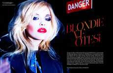 80s Icon Editorials - Ashley Smith Channels Debbie Harry for Vogue Turkey