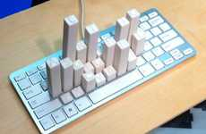 Skyscraping Computer Peripherals - This Keyboard Frequency Sculpture is a 3D Bar Graph