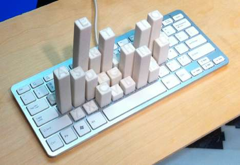 Keyboard Frequency Sculpture