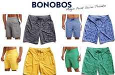 Hidden-Image Swim Shorts