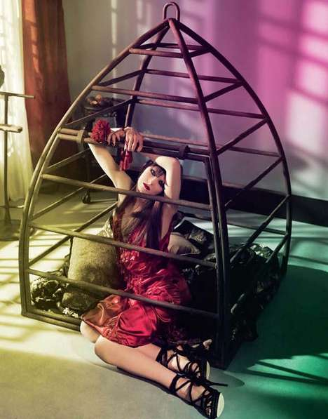 Caged Beauty Photography - The Numero China Editorial is Captivating and Mysterious