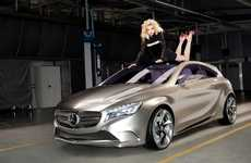 Supermodel Supercar Ads - The Mercedes Benz A Class 2012 commercial Stars Supermodel Jessica Stam