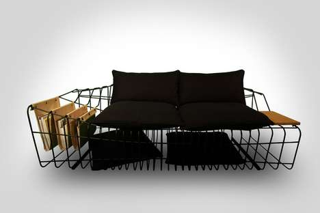 Wireframe Furnishings - Sofist by Sule Koc is a Sofa Stripped of Unnecessary Material