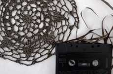 Laced Retro Lyrics - Cassette Tape Crochet May Be the Chosen Media of 1980s-Born Grandmothers