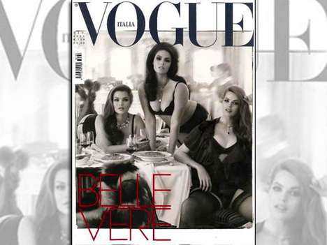 Curvaceous Cover Shots - The Vogue Italia June 2011 Issue Advocates for Plus-Sized Beauty