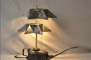Gilles Eichenbaum Uses Vintage Rejects for Light Fixtures