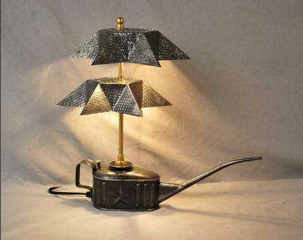 Upcycled Steampunk Lamps