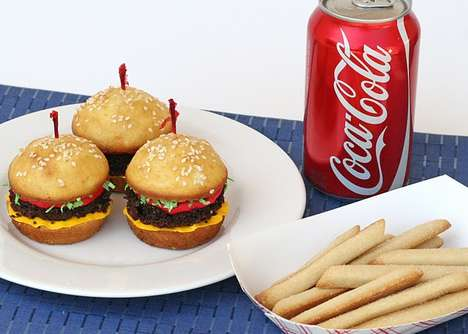 Hamburger Cupcakes and Cookie Fries