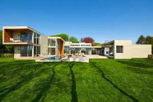 The Fieldview House is Composed of Various Stacked Cubes
