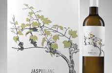 Elegant Grapevine Branding - Jaspi Blanc Wine Packaging Unveils an Organic Honesty