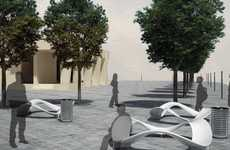 Dynamic Public Plazas - Urban Square by Radu Serban Invites Social Interaction in Cities