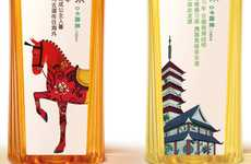 Illustrated Loose Leaf Branding - Nongfu Spring Oriental Tea Packaging Features Cultural Cartoons