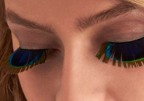 Avian Eyelashes - The Peek of Peacock Lashes by ModCloth Prettify Your Peepers with Plumage