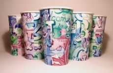 Jigsaw Puzzle Beakers - Isabel Eeles 'Brick Lane' Paper Cups Use Playful Pieced-Together Designs