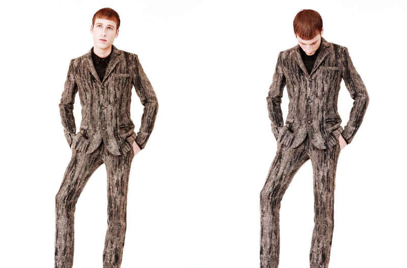 Bark-Patterned Suits