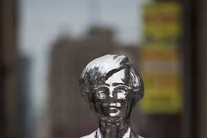 A Metallic Andy Warhol Monument Shines Bright in Union Square