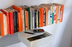 Mind-Boggling Invisible Bookcases - TEEbooks Shelves Put Your Paperbacks Front and Center