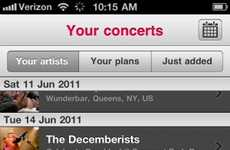 Mobile Concert Calendars - Coordinate your Show Line-Up Wherever You are With the Songkick App