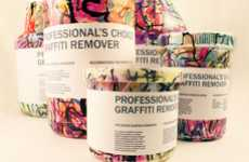 Spray-Painted Packaging - Graffiti Remover Branding is as Illustrated as the Walls it Washes