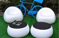 Sticky Tack Seating - The Plust Gumball Collection Offers Soft Surfaces for Sitting Outdoors