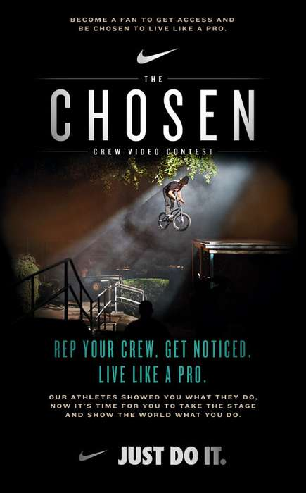 Extreme Sports Crew Contests - Record Epic Skills for Nike's 'The Chosen' Facebook Campaign