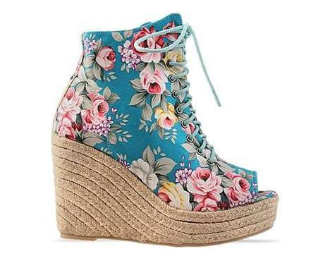 Garden-inspired footwear