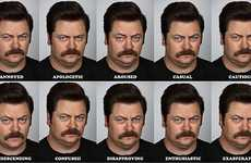 Hilarious Expressionless Headshots - The Many Faces of Ron Pays Tribute to Mr. Swanson