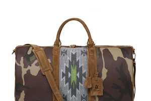 The Trussardi 1911 Navajo Camo Weekender Bag Mixes Military & Native Prints
