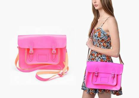 Large Neon Briefcase Bag
