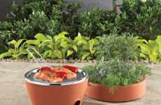 Stealthy Barbecues - The 2-in-1 Erbe Planter and Grill is Perfect for Small Urban Spaces