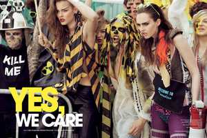 Yes, We Care in Fashion Poland Summer 2011 Features Neo-Punk Disaster Style