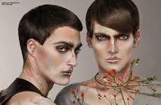 Gender-Bending Makeup Canvases - Oriental Spirit in Factice June 2011 Channels Chinese Culture